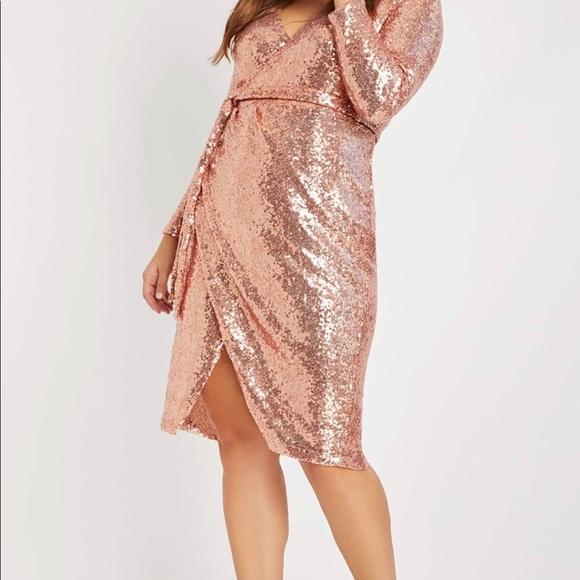 Eloquii Dresses & Skirts - Cocktail wrap dress